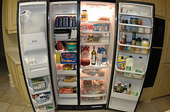 Side by side refrigerators waste energy