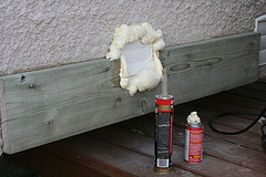 Expanding foam insulation green energy efficient homes sealing a vent opening with expanding foam insulation solutioingenieria Image collections