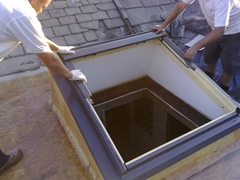 Skylights allow natural sunlight to brighten your home