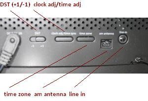 iHome Clock Radio - back panel