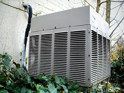 A vintage residential air conditioning unit